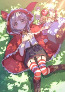 Rating: Safe Score: 38 Tags: ayataka little_red_riding_hood_(character) pantsu stockings thighhighs User: Mr_GT