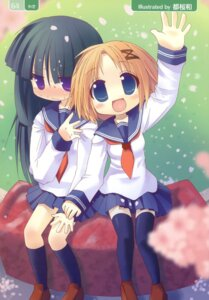 Rating: Safe Score: 10 Tags: chibi seifuku thighhighs tozakura_nagomi User: petopeto