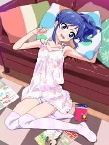 Rating: Questionable Score: 34 Tags: aikatsu! bike_shorts dress kiriya_aoi thighhighs tonbi903 User: blooregardo