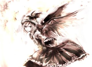 Rating: Safe Score: 17 Tags: mystia_lorelei touhou wings yae_(mono) User: charunetra