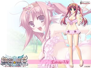 Rating: Safe Score: 34 Tags: bikini cleavage estreia_vit score swimsuits wallpaper zettai_maou User: Gekisoku
