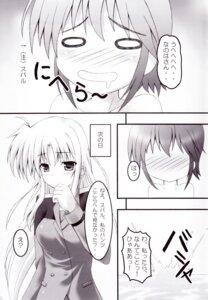 Rating: Safe Score: 2 Tags: fate_testarossa kouzuki_hajime magic_shinsengumi mahou_shoujo_lyrical_nanoha monochrome subaru_nakajima User: MirrorMagpie