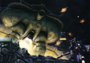 Rating: Safe Score: 4 Tags: gundam mecha mobile_suit_gundam ms-06_zaku_ii User: Share