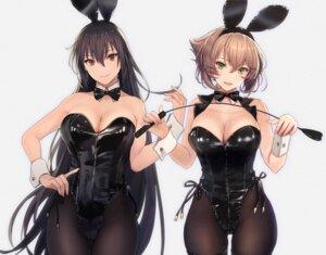 Rating: Questionable Score: 51 Tags: animal_ears bunny_ears bunny_girl fishnets kantai_collection kasumi_(skchkko) mutsu_(kancolle) nagato_(kancolle) no_bra pantyhose weapon User: Mr_GT