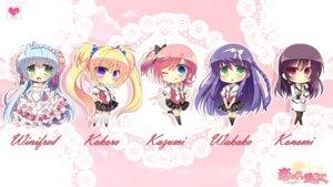 Rating: Safe Score: 25 Tags: chibi daikou_wakako dress fujita_konomi hearts izumi_makoto koba_kasumi koi_saku_miyako_ni_ai_no_yakusoku_wo_~annaffiare~ pantyhose seifuku tsuji_kokoro wallpaper winifred_d._land User: にまび