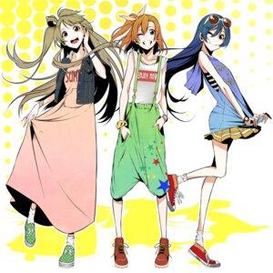 Rating: Safe Score: 29 Tags: dress kousaka_honoka love_live! minami_kotori sonoda_umi vice_(kuronekohadokoheiku) User: saemonnokami