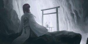 Rating: Safe Score: 10 Tags: hiraoka_masamune kimono landscape miko User: charunetra