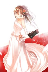 Rating: Safe Score: 26 Tags: dress furisuku kantai_collection ryuujou_(kancolle) wedding_dress User: Mr_GT