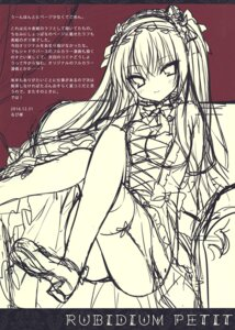 Rating: Safe Score: 2 Tags: gothic_lolita heels lolita_fashion rubi-sama sketch stockings tagme thighhighs User: kiyoe