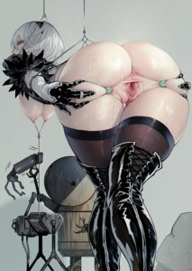 Rating: Explicit Score: 157 Tags: anus ass bondage bottomless breasts glassjill nier_automata nipples no_bra pussy pussy_juice thighhighs uncensored yorha_no.2_type_b User: BattlequeenYume