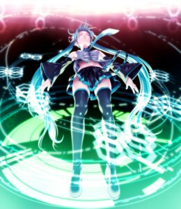 Rating: Safe Score: 40 Tags: hatsune_miku rezi thighhighs vocaloid User: Shamensyth