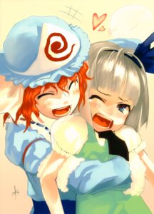 Rating: Safe Score: 7 Tags: konpaku_youmu missing_link saigyouji_yuyuko shingo touhou User: blooregardo
