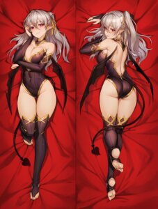 Rating: Questionable Score: 13 Tags: ass breast_hold dakimakura leotard no_bra peachpa pointy_ears tail thighhighs wings User: BattlequeenYume
