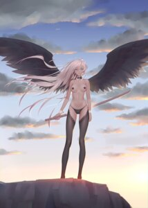Rating: Questionable Score: 97 Tags: maredoro pantsu pasties sword thighhighs topless wings User: Mr_GT
