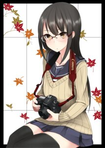 Rating: Safe Score: 32 Tags: megane nekobaka seifuku sweater thighhighs User: Mr_GT