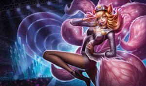 Rating: Safe Score: 28 Tags: ahri animal_ears cleavage heels league_of_legends pantyhose tagme tail User: Radioactive