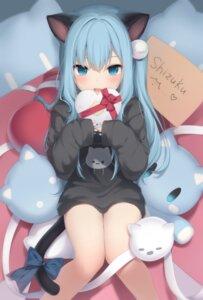 Rating: Safe Score: 67 Tags: amashiro_natsuki animal_ears nekoha_shizuku nekomimi tail valentine User: Mr_GT