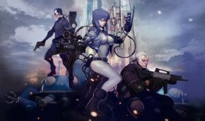 Rating: Safe Score: 21 Tags: batou bodysuit ghost_in_the_shell gun kusanagi_motoko saito tachikoma User: blooregardo