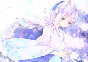 Rating: Safe Score: 53 Tags: animal_ears chita_(ketchup) japanese_clothes kitsune signed tail User: RyuZU