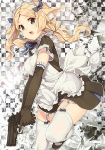 Rating: Safe Score: 109 Tags: animal_ears gun hiiragi_ryou maid paseri stockings thighhighs User: yong