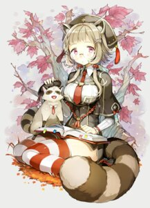 Rating: Safe Score: 43 Tags: animal_ears cocorip megane seifuku tail thighhighs User: Mr_GT