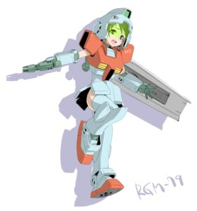 Rating: Safe Score: 5 Tags: armor gun gundam mecha_musume mobile_suit_gundam syow-maru thighhighs User: Radioactive