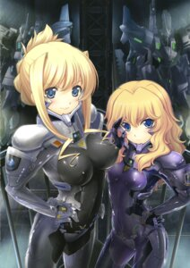 Rating: Questionable Score: 51 Tags: bernadette_e_tigre_le_la_rivière bodysuit erect_nipples ilfriede_von_feulner mecha muvluv muvluv_alternative_chronicles User: onesangheili