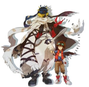 Rating: Safe Score: 10 Tags: awaguri baalmon digimon digimon_xros_wars kudou_taiki male User: krazy-kun