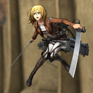 Rating: Safe Score: 12 Tags: christa_lenz shingeki_no_kyojin sword uniform User: NotRadioactiveHonest