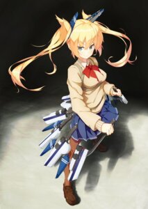 Rating: Questionable Score: 33 Tags: heels kuroneko_shiro pantyhose seifuku sweater weapon User: nphuongsun93