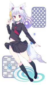 Rating: Safe Score: 19 Tags: animal_ears gucchiann seifuku tail User: charunetra