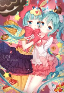 Rating: Safe Score: 35 Tags: dress hatsune_miku jimmy lots_of_laugh_(vocaloid) pantyhose vocaloid User: Mr_GT