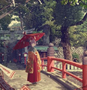 Rating: Safe Score: 54 Tags: hieda_no_akyuu japanese_clothes landscape tagme touhou umbrella User: charunetra