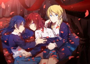 Rating: Questionable Score: 22 Tags: ayase_eli love_live! nishikino_maki seifuku sonoda_umi walluku User: saemonnokami