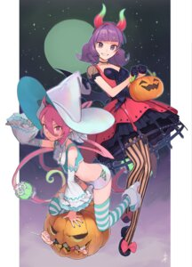 Rating: Safe Score: 10 Tags: dress halloween heels horns iwato1712 pantyhose thighhighs witch User: Dreista