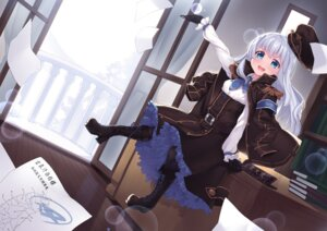 Rating: Safe Score: 42 Tags: heels kuuki_shoujo the_personification_of_atmosphere thighhighs uniform yaguo User: fairyren