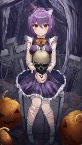 Rating: Safe Score: 9 Tags: animal_ears bandages dress halloween k.j. nekomimi User: BattlequeenYume