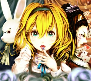 Rating: Safe Score: 15 Tags: alice alice_in_wonderland kuro_shigure queen_of_hearts white_rabbit User: Radioactive