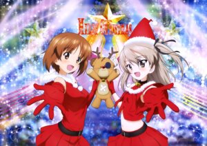 Rating: Safe Score: 11 Tags: christmas dress girls_und_panzer nishizumi_miho shimada_arisu User: drop