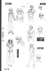 Rating: Safe Score: 2 Tags: akaiito character_design hal hatou_emiko monochrome nara_youko senba_mayumi sketch User: Waki_Miko