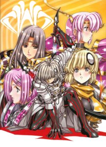 Rating: Safe Score: 16 Tags: anita_(growlanser) armor growlanser growlanser_vi iristelessa jpeg_artifacts merklich neilis sword urushihara_satoshi wendy User: gb40
