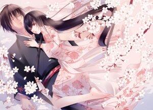 Rating: Safe Score: 35 Tags: fuuchouin_kazuki get_backers kakei_juubei kimono papillon10 trap User: charunetra