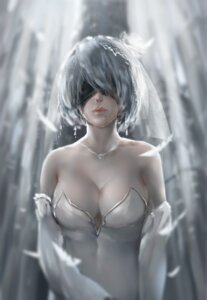 Rating: Safe Score: 43 Tags: cleavage dress nier_automata shinkai_meguru wedding_dress yorha_no.2_type_b User: mash