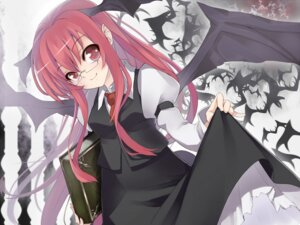 Rating: Safe Score: 18 Tags: koakuma kousou megane touhou wallpaper wings User: Mr_GT