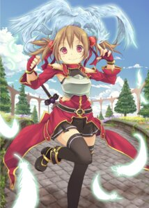 Rating: Safe Score: 44 Tags: hpflower pina silica sword_art_online thighhighs User: 椎名深夏