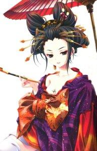 Rating: Safe Score: 19 Tags: cleavage kimono miyama-zero User: syaoran-kun