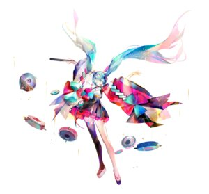 Rating: Safe Score: 15 Tags: hatsune_miku headphones japanese_clothes thighhighs vocaloid yyb User: Dreista
