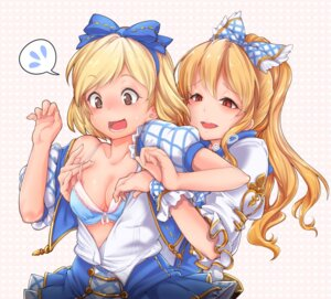Rating: Questionable Score: 55 Tags: bra cleavage gita_(granblue_fantasy) granblue_fantasy open_shirt tagme undressing vila_(granblue_fantasy) yuri User: Radioactive