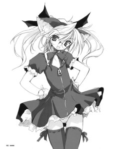 Rating: Questionable Score: 7 Tags: animal_ears e=mc2 megane monochrome nekomimi pantsu thighhighs User: korokun