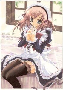 Rating: Safe Score: 19 Tags: hisuitei izumi_tsubasu maid stockings thighhighs User: Davison